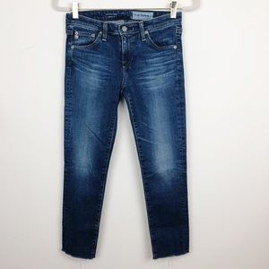 AG JEANS STILT RAW HEM CIGARETTE CROP SZ 26